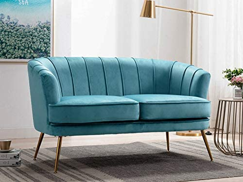 Altrobene Velvet Loveseat Sofas Modern Couch