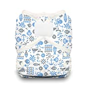 Thirsties Duo Wrap Cloth Diaper Cover - Ocean Life - Size 1 - Hook & Loop