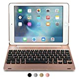 iPad Pro 9.7/iPad Air 2 keyboard case, [NEW] COOPER KAI SKEL Q0 Bluetooth Wireless Keyboard Portable Laptop Macbook Clamshell Case Cover with 14 Shortcut Keys for Apple iPad Air 2/Pro 9.7 Rose Gold