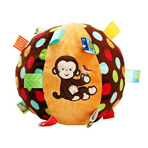 SKK Baby Taggies Chime Ball Soft Rattle Comforter Toy For Infant Toddler Kids (Taggie Ball)