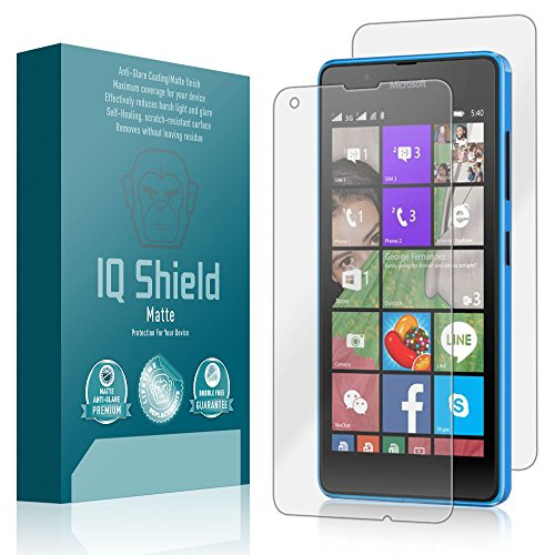 Microsoft Lumia 550 Screen Protector, IQ Shield Matte Full Coverage Anti-Glare Full Body Skin + Screen Protector for Microsoft Lumia 550 Bubble-Free Film - with (550 Film)
