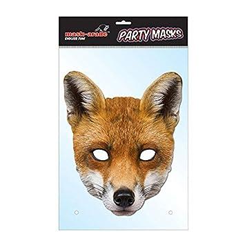 Máscara de zorro, cartón, diseño de animal