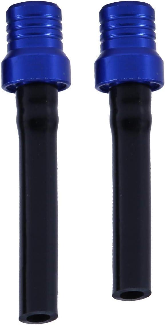 Azul Yaootely 2X Gas Combustible Gas Tanque Tapa V/áLvula Ventilaci/óN Respiradero Tubo de Manguera CNC ATV Motocicleta Color