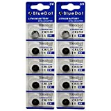 BlueDot Trading CR1220 Lithium Battery, 10 Count