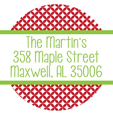 100 Holiday Address Labels - Personalized Return Address Stickers - Custom Shipping Labels