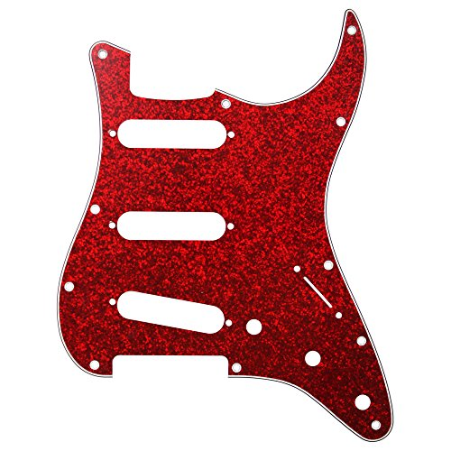 Sparkle Guitar Red Electric (D'Andrea Strat Pickguards for Electric Guitar, Red Sparkle)