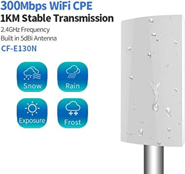 DCC 1KM WiFi Alcance inalámbrico al Aire Libre CPE Router ...