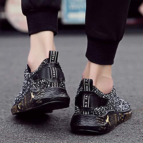 Negro Ligero de Zapatos para Mujer Cinnamou Gimnasia Transpirables Verano Mujer Running Zapatos Sneakers Trabajo Deportivos de Plano Alpargatas CT5wSZx
