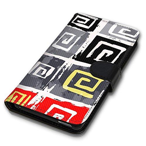 Wallet Book Style Flip Handy Tasche Case Schutz Hülle Schale Motiv Etui für Apple iPhone 6 / 6S - Design Flip MVD257