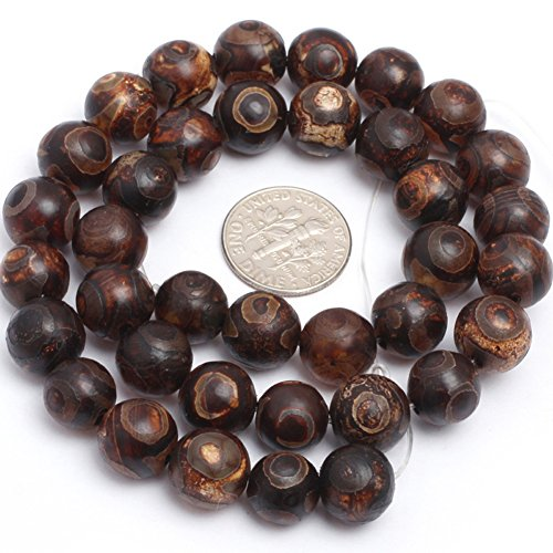 Dyed Wooden Agate Gemstone Vintage Banded Eye Pattern Round Frost Loose Beads For Jewelry Making Wholesale Beads 15