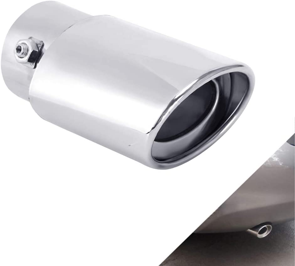 Universal Chrome Car Exhaust Muffler Tip Pipes Fits Pipes from 1 1//2 to 2 Diameter