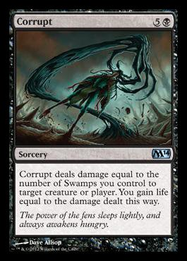 - Magic: the Gathering - Corrupt - Magic 2014 - Foil