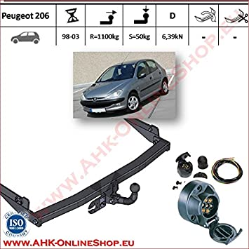 Prime Ahk 7 Pin Wiring Kit For Peugeot 206 1998 To 2003 Tow Trailer Hitch Wiring Digital Resources Funapmognl