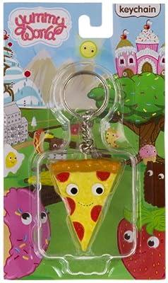 """Pizza Slice ~1.9"""" Mini-Figure Keychain: Yummy World Keychain Series"""