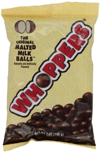 Dark Chocolate Malted Milk Balls (WHOPPERS Candy (Chocolate Covered Malted Milk Candy Balls),7 Ounce Bag (Pack of 12))