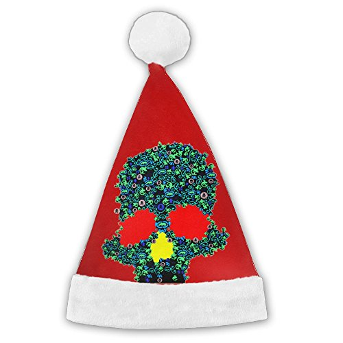 Glow In The Dark Skull Design Classical Santa Hats Christmas Hat Santa