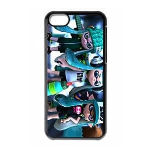 iPhone 5c Cell Phone Case Black Splatoon FXS_631533