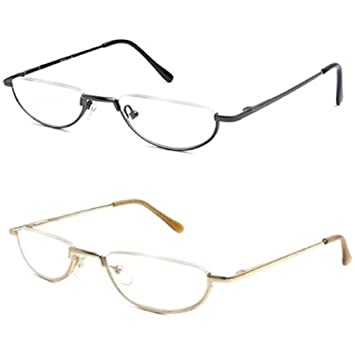 b16fd423037b Amazon.com  The Lynwood Unisex Half Moon Half Frame Reading Glasses ...