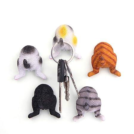 HYZ® 5 piezas 3d dibujos animados gato ass nevera pegatina llavero ...