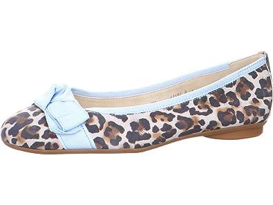 a619e6ff434512 Paul Green Damen Ballerinas Ballerina 2477-014 blau 586594  Amazon ...