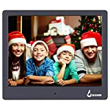 BSIMB M12 Digital Picture Frame Digital Photo Frame 8' LED Display Hi-Res Digital Photo & HD Video Frame and USB/SD Card Playback...