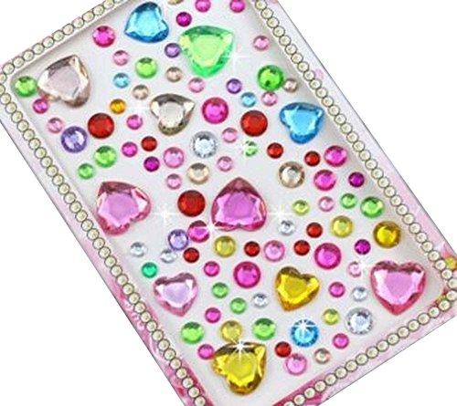 - 4 Sheets Acrylic Rhinestone Stickers DIY Crafts Stickers, Hearts