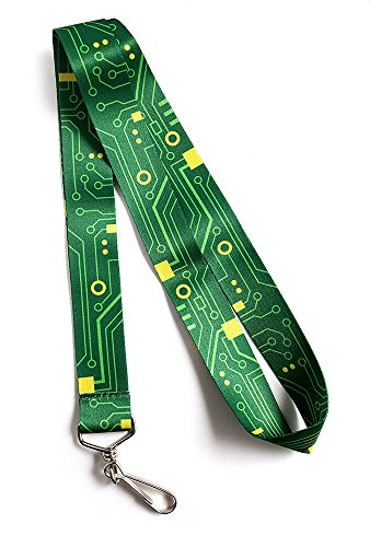 Pinsanity Digital Circuit Board Premium Lanyard