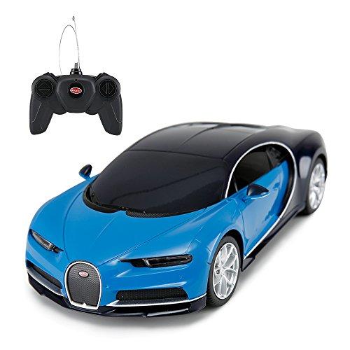 RASTAR Bugatti Veyron Chiron RC Car 1:24 Scale Remote Control Toy Car, Bugatti Chiron R/C Model Vehicle for Kids - Blue ...