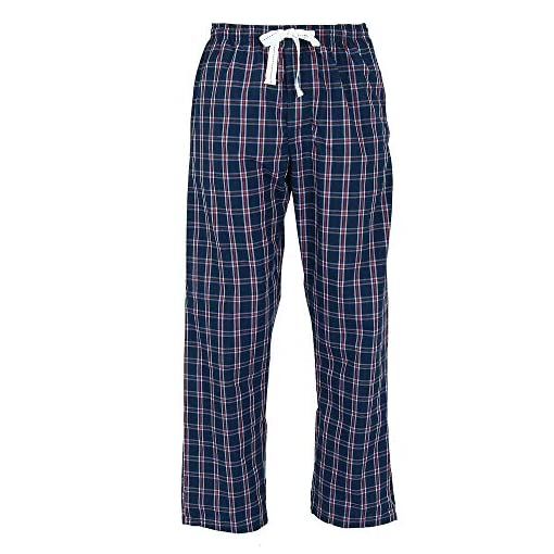 Hanes Mens Pajama Set Sleep Lounge Wear T-Shirt Woven Pants Drawstring Tag Free