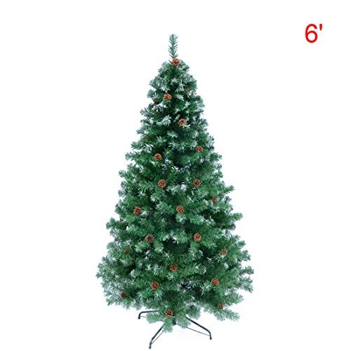6ft artificial pine christmas tree with solid metal legs full tree 6 feet green - Christmas Greens