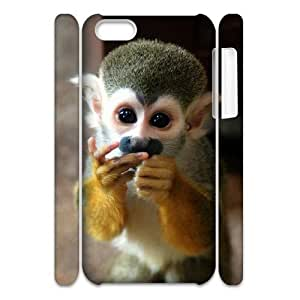 QNMLGB Hard Plastic of Monkey Cover Phone Case For Iphone 5C [Pattern-1]