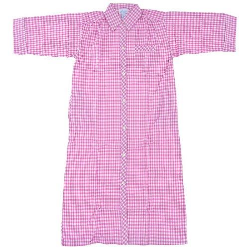 Leisure Life - Ladies 3/4 Sleeve Plaid Flannel Housecoat
