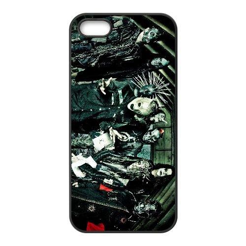 Q4S61 Slipknot T5N5CF coque iPhone 4 4s cellule de cas de téléphone couvercle coque noire II6YVC5EF