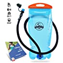 Hydration Bladder 3 Liter Water Reservoir Leak Proof Hydration Pack BPA Free Quick Release Insulated Tube & Shutoff Valve Best Hydration Reservoir for Hiking Cycling Running Biking Climbing