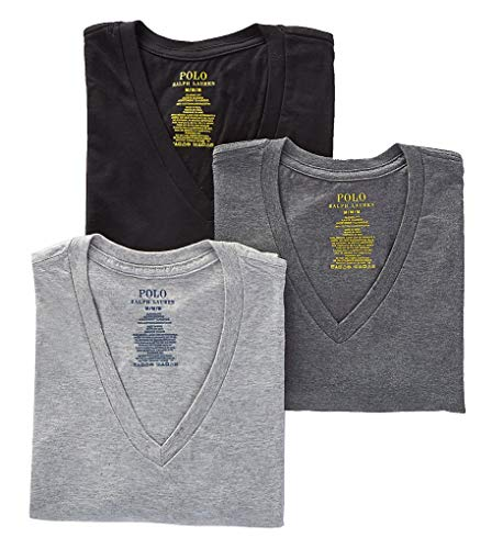 assic Fit Cotton T-Shirts 3-Pack, S, Black/Grey Combo ()