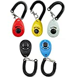 YoYa Pet Dog Training Clicker Button Volume Control with Wrist Strap | Pack of 5