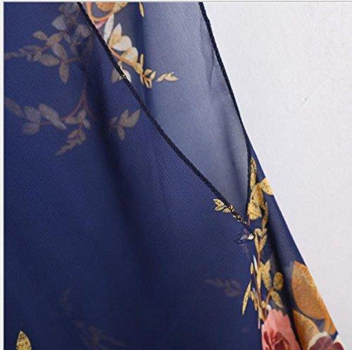 Acvip Lily Deux Bain 3 De Blue Femme Taille Dark Maillot Unique Flower Pièces BBqZwTr