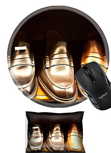 Liili Mouse Wrist Rest and Round Mousepad Set, 2pc Wrist Support Italian shoes IMAGE ID 9886708