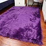 Rectangle Faux Fur Sheepskin Area Rug Baby Bedroom Fluff Floor Sofa Rugs Home Decorative Shaggy Carpet