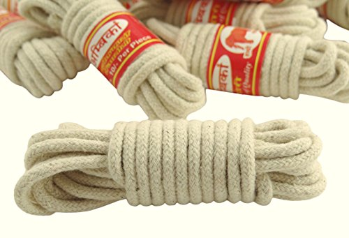 Braided Cotton Rope Traditional Cotton Clothes Line 2 mm Lot Of 12