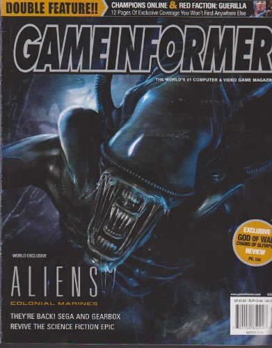 GameInformer The World's #1 Computer & Video Game Magazine (Aliens Colonial Marines, Red Faction: Guerilla, God of War: Chains of Olympus Review, March 2008, Issue 179)