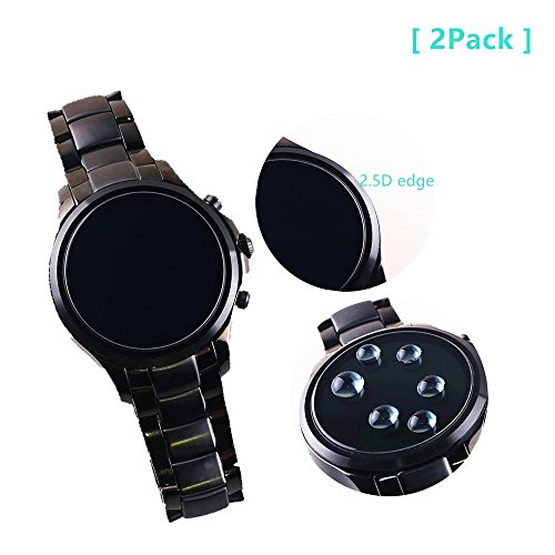 Price comparison product image For Emporio Armani Full Display SmartwatchScreen Protector , 9H Premium Real Tempered Glass Screen Protector For Emporio Armani Touchscreen Smartwatch Anti Scratch Protector 2Pack- NEW