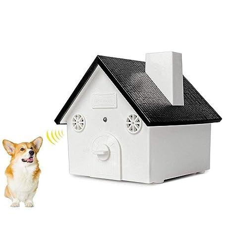 Aolvo - Dispositivo ultrasónico antiladridos para perro, diseño de casa de pájaros, resistente al agua, ...