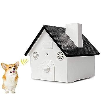 Aolvo - Dispositivo ultrasónico antiladridos para perro, diseño de casa de pájaros, resistente al
