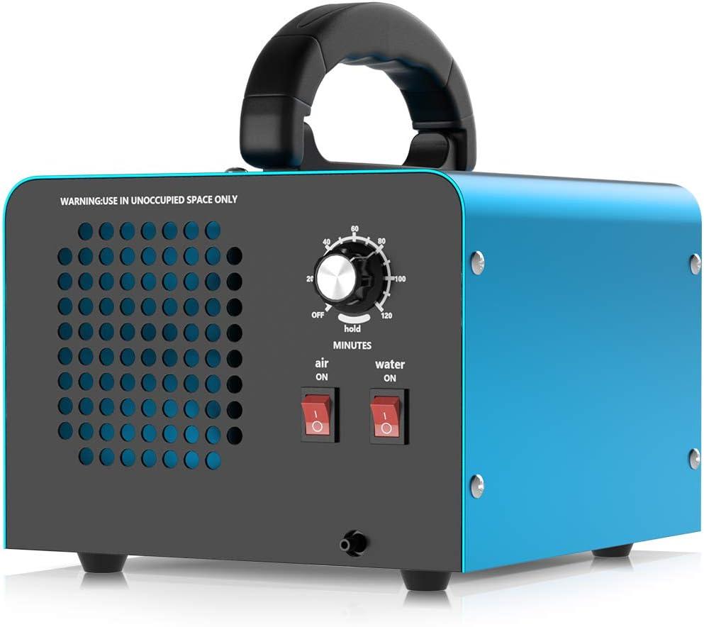 MELOPHY Generador de ozono, 28000mg / h Dispositivo de ozono con 2 Modos, purificador de Aire de ozono Industrial con Temporizador, para Habitaciones, garajes, Granjas, hoteles, Limpia hasta 300㎡