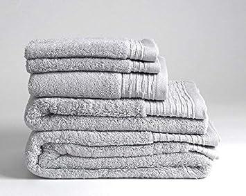 Lujo Supreme 600 gsm 100% toallas de algodón egipcio, algodón, Gris, Toalla de cara: Amazon.es: Hogar