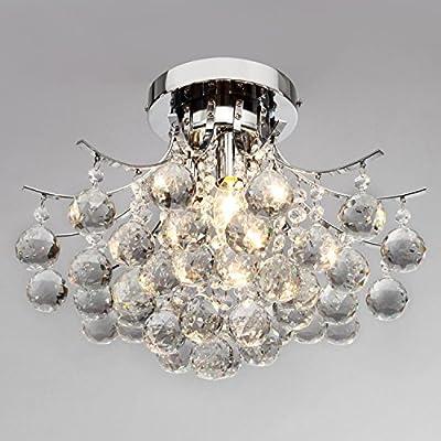 LightInTheBox 00218363 Chrome Finish Crystal Chandelier with 3 lights