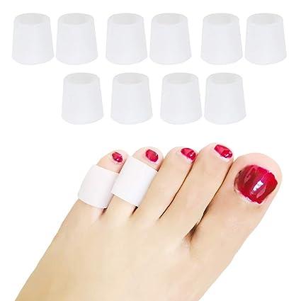 Protectores de dedos de los pies de gel suave, 5pares/lote,
