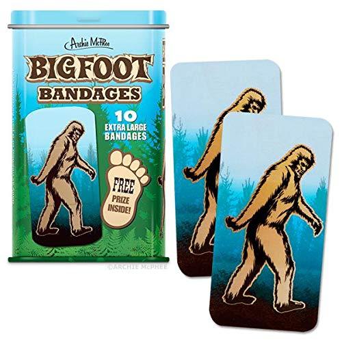 Archie McPhee Bigfoot Bandages, Extra Large, 10 Pack