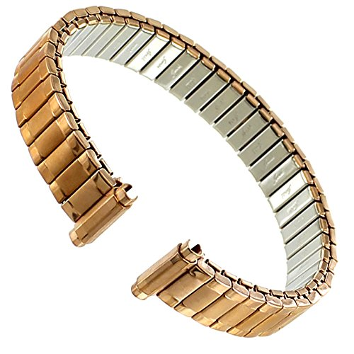 - Speidel 10mm to 13mm Rose Gold Stainless Steel Twist-O-Flex Ladies Watch Band 2205/42